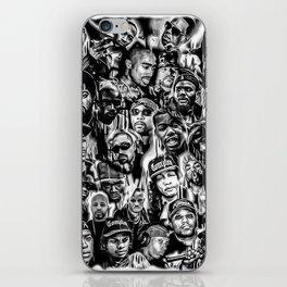 Gangster Rap Legends Print iPhone Skin