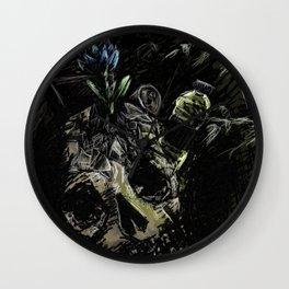 Garbage: frustration Wall Clock