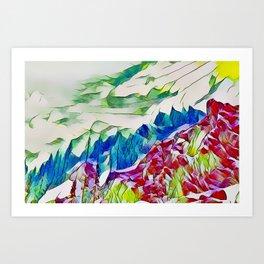 Crystal Summer Mountains Art Print