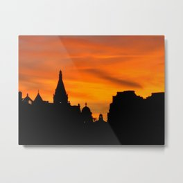London Sunset in sillouette bywhacky Metal Print