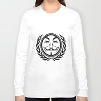community Long Sleeve T-shirts featuring Anonymous community by Komrod