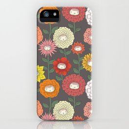 Talking Garden (gray) iPhone Case