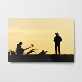 Sunset Flight Check Metal Print