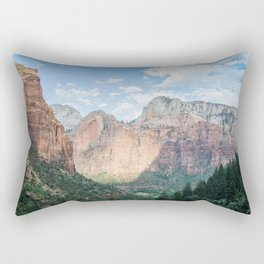 Zion National Park - Utah Natural Landscape, Sunset Photography Rectangular Pillow