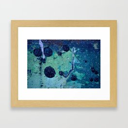 Space and Time Collision Framed Art Print