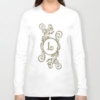 monogram Long Sleeve T-shirts featuring Monogram L by Britta Glodde
