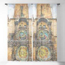 Praha city art #praha #prague Sheer Curtain
