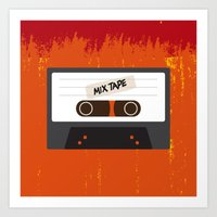 cassette Art Prints featuring Cassette by Ruveyda & Emre