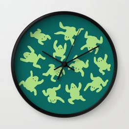 Froglets Wall Clock