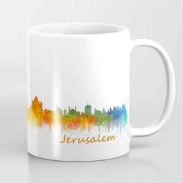 Jerusalem City Skyline Hq v2 Coffee Mug