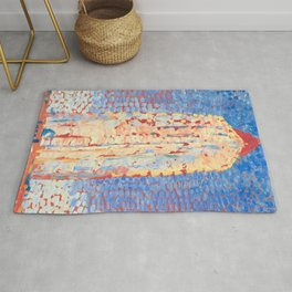 Lighthouse in Westkapelle by Piet Mondrian 1909 // Nautical and Costal Theme Colorful Decor Rug