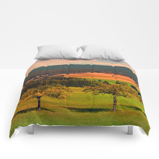 Two rival trees Comforters