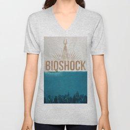 Bioshock - Rapture poster Unisex V-Neck