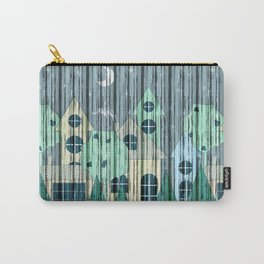 Stylized night city. Carry-All Pouch