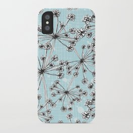 Contemporary Cow Parsley  iPhone Case