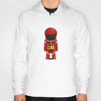 2001 a space odyssey Hoodies featuring 2001 Space Odyssey Red Suit by Scientee