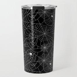 Spider Web Halloween Backdrop Travel Mug