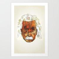 einstein Art Prints featuring Einstein by Jason Ratliff