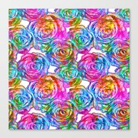 roses Canvas Prints featuring Roses by Aloke Design