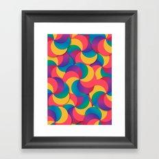Spiral Mess Framed Art Print
