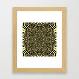 sayagata lotus Framed Art Print