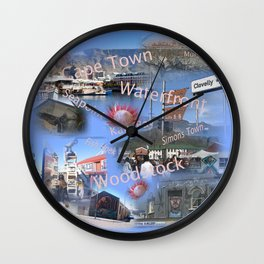 Greetings from Cape Town Wall Clock