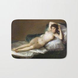 Maja Desnuda (The Nude Maja) by Francisco Goya Bath Mat
