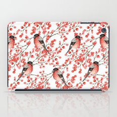 Bullfinch and red berries iPad Case