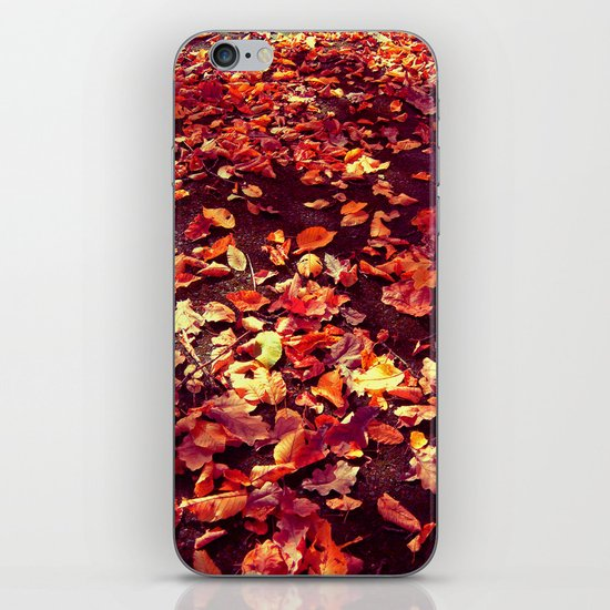autumn path abstract I iPhone & iPod Skin