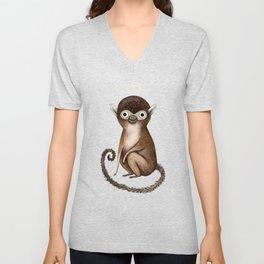 Squirrel Monkey Unisex V-Neck