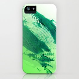 Green Smear iPhone Case