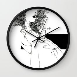 Curly Poems Wall Clock