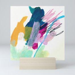 abstract lines marks  Mini Art Print