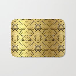 "Black and ""gold"" design Bath Mat"