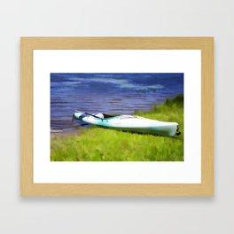 Kayak in Upstate NY Framed Art Print