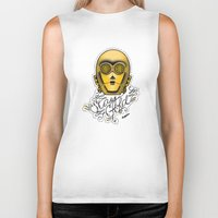 stay gold Biker Tanks featuring Stay Gold by Amanda Marie Bell