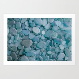 Japanese Sea Glass - Low Tide Blues II Art Print