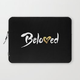 Beloved - White & Gold Laptop Sleeve
