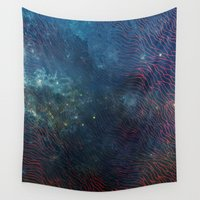 aqua Wall Tapestries featuring aqua by Vita♥G