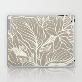 Gray Grey Alabaster Floral Laptop & iPad Skin