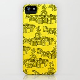 Yellow Submarine Pattern iPhone Case