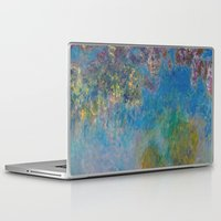monet Laptop & iPad Skins featuring Wisteria by Claude Monet by Palazzo Art Gallery