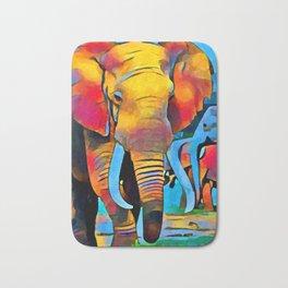 Elephant 3 Bath Mat