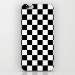 Classic Black and White Race Check Checkered Geometric Win iPhone Skin