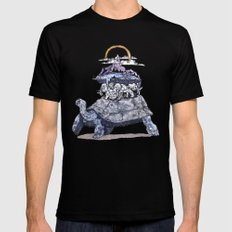The discworld Black X-LARGE Mens Fitted Tee