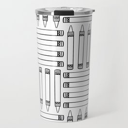 Crayon Pattern 4 Travel Mug