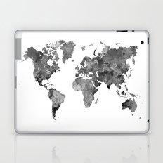 World map in watercolor gray Laptop & iPad Skin