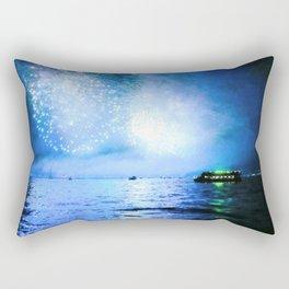 blue fire Rectangular Pillow