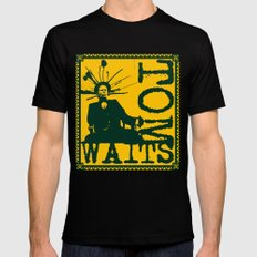 Tom Waits Black X-LARGE Mens Fitted Tee