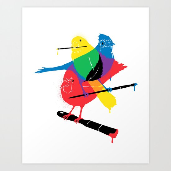 Colors of a Feather Art Print
